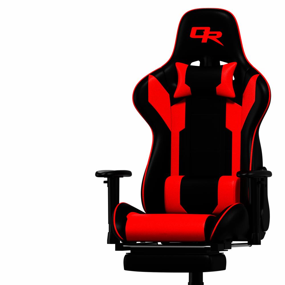 Oneray Black-Red Chair Gaming με υποπόδιο (D0921-F)