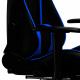 Oneray Black-Blue Chair Gaming με υποπόδιο (D0921-F)