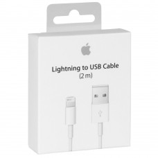 Apple USB to Lightning Cable White 2m  (MD819) Σε συσκευασια
