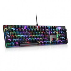 Motospeed CK104 Keyboard (Blue switches) (Ασημί) + ΔΩΡΟ Motospeed Mousepad P70