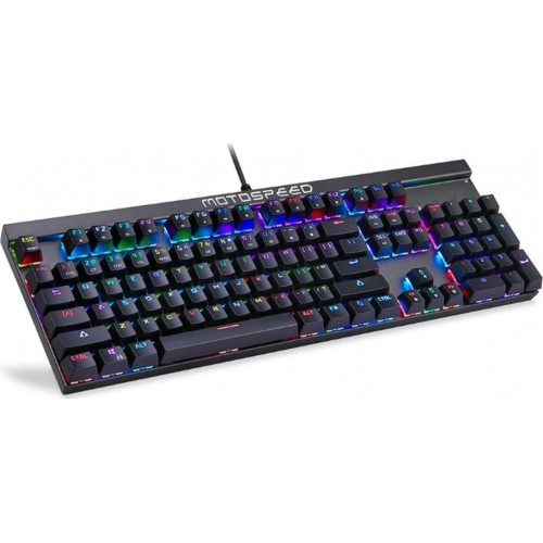 Motospeed CK103 Keyboard (Red Switches) (Μαύρο) + ΔΩΡΟ Motospeed Mousepad P70