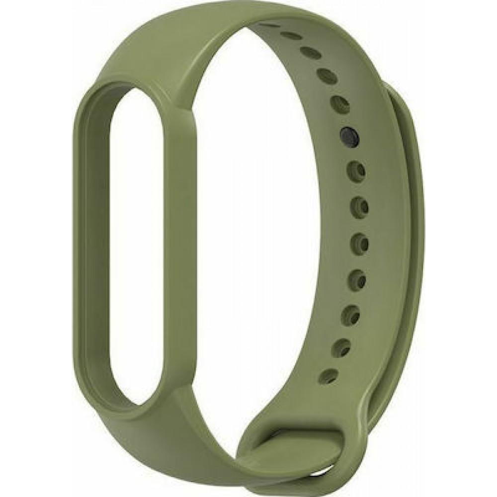 Iconband Λουράκι Σιλικόνης Mi Band 5 Military Green