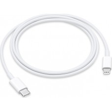 Apple Regular USB 2.0 Cable USB-C male - Lightning Λευκό 1m (MQGJ2ZM/A)